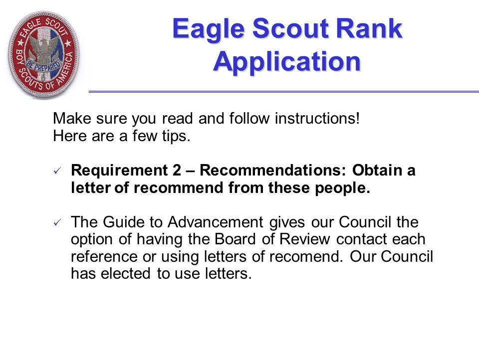 The Eagle Scout Leadership Service Project - Ppt Video Online Download