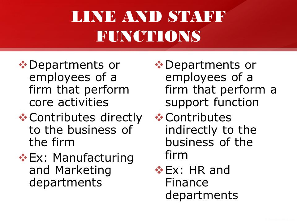 line and staff relationship in hrm