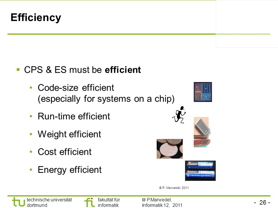 Efficiency CPS & ES must be efficient