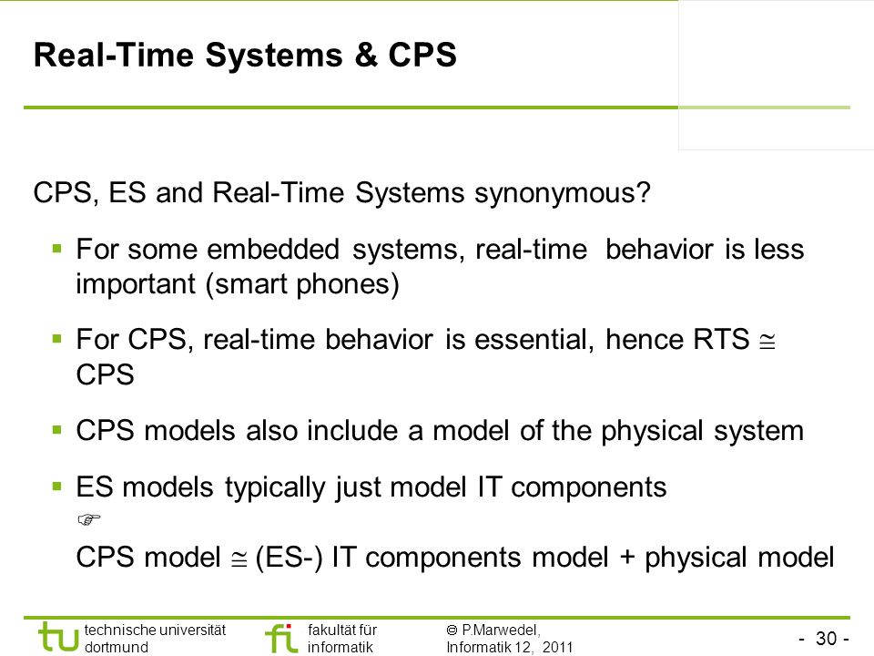 Real-Time Systems & CPS