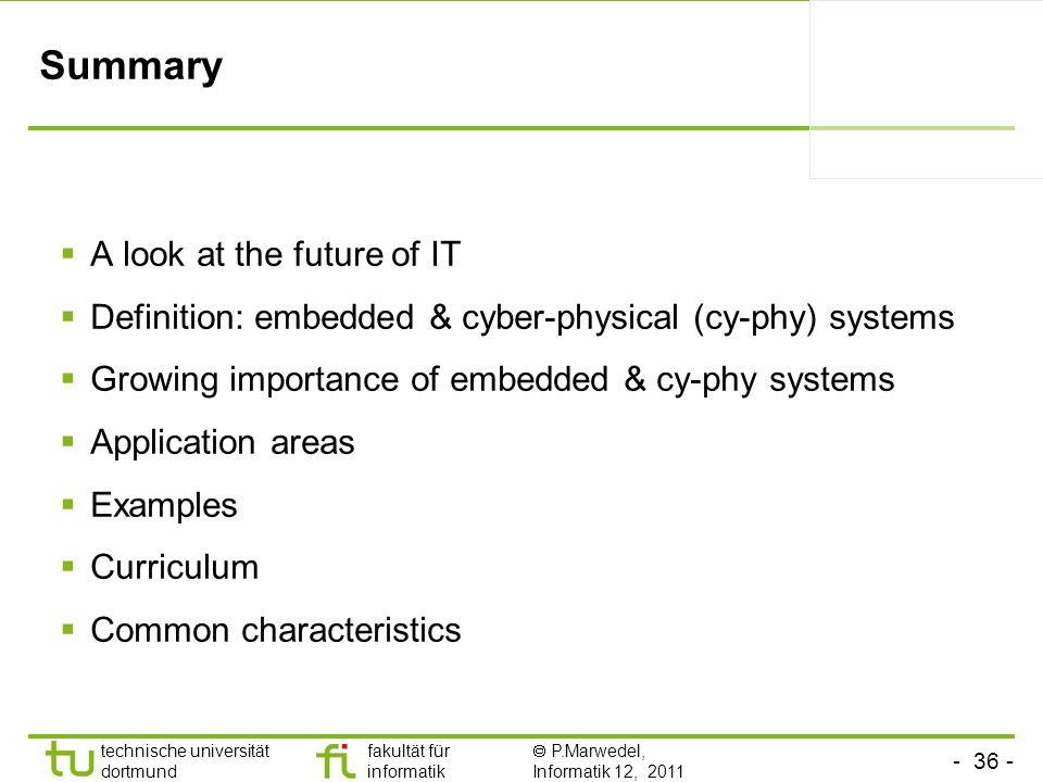 Summary A look at the future of IT