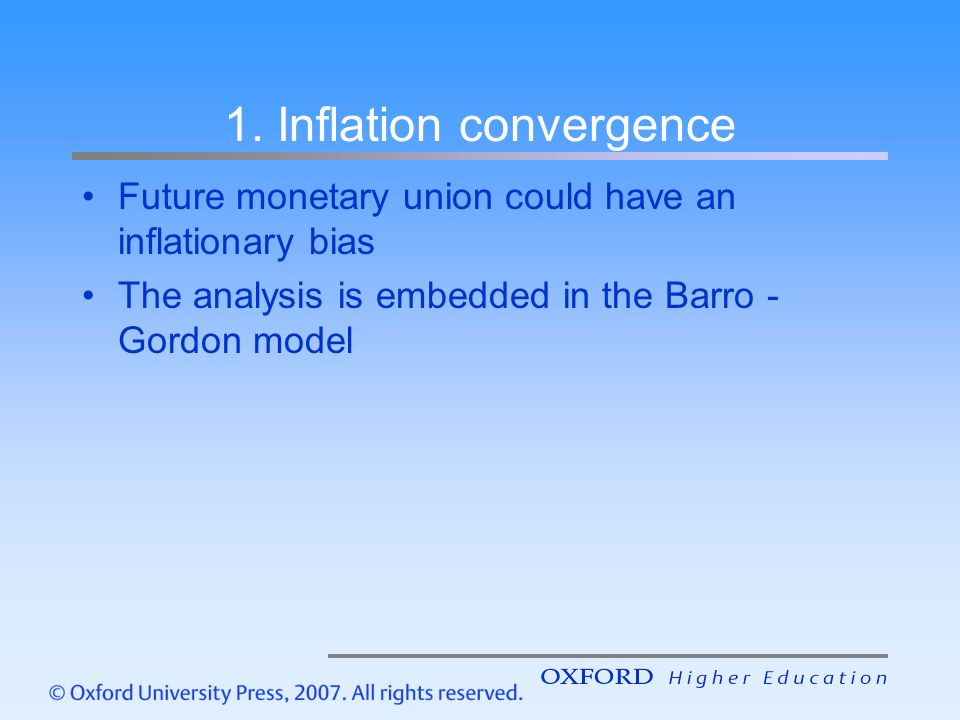 """barro gordon model Barro and gordon, jme1983 """"rules, discretion, and reputation in a model of monetary policy"""" 1 under discretion, the equilibrium is consistent but inferior."""