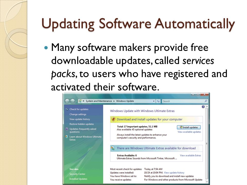 Updating Software Automatically