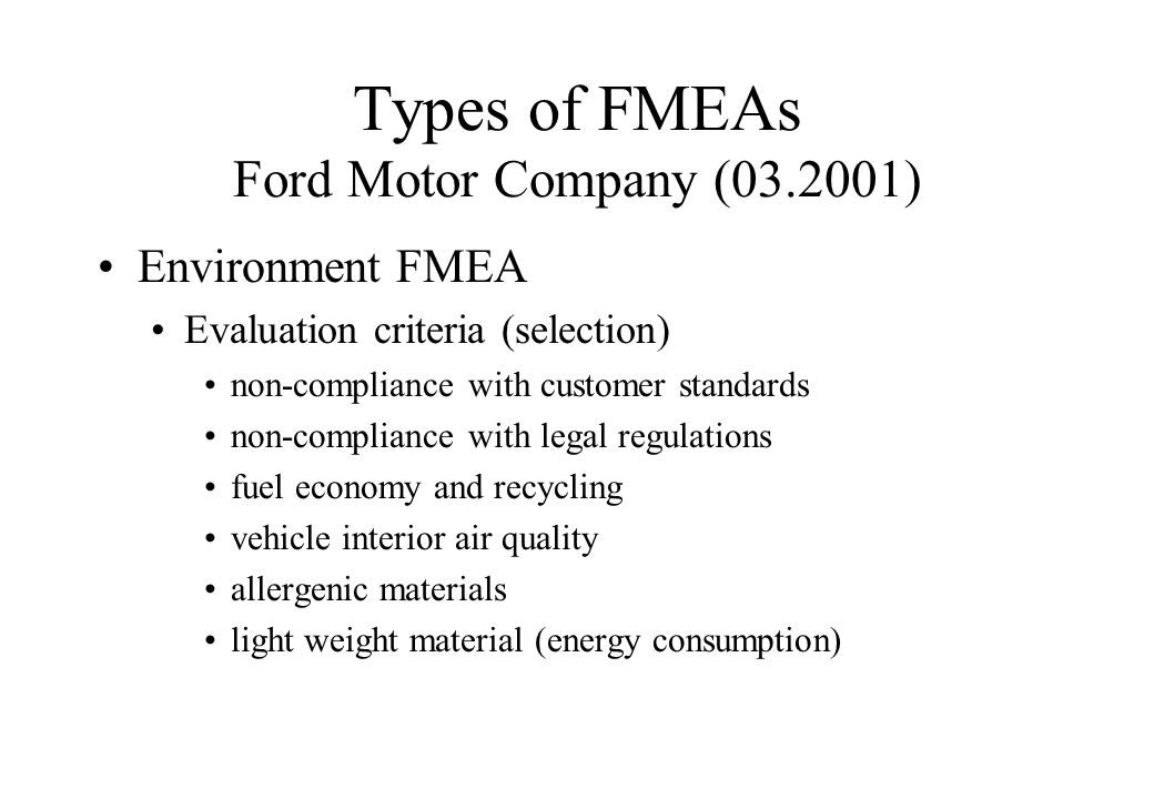 Fmea Potential Failure Mode And Effects Analysis Ppt