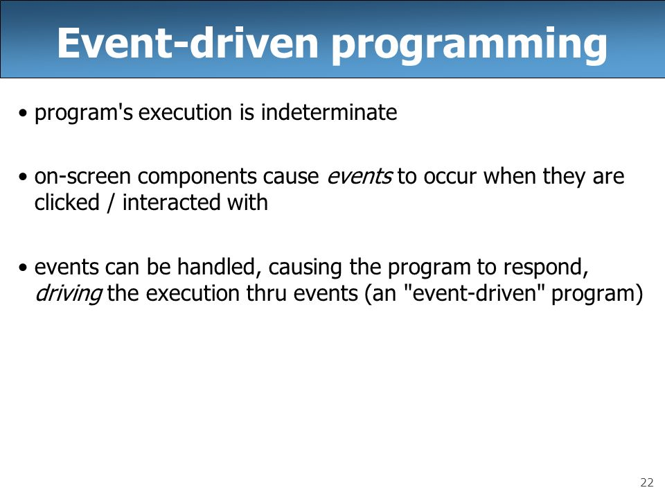 event driven programming Hey hey hey - back with a new tutorial and also trying something new sorry it's taken so long i've been at college and busy with other projects if you li.