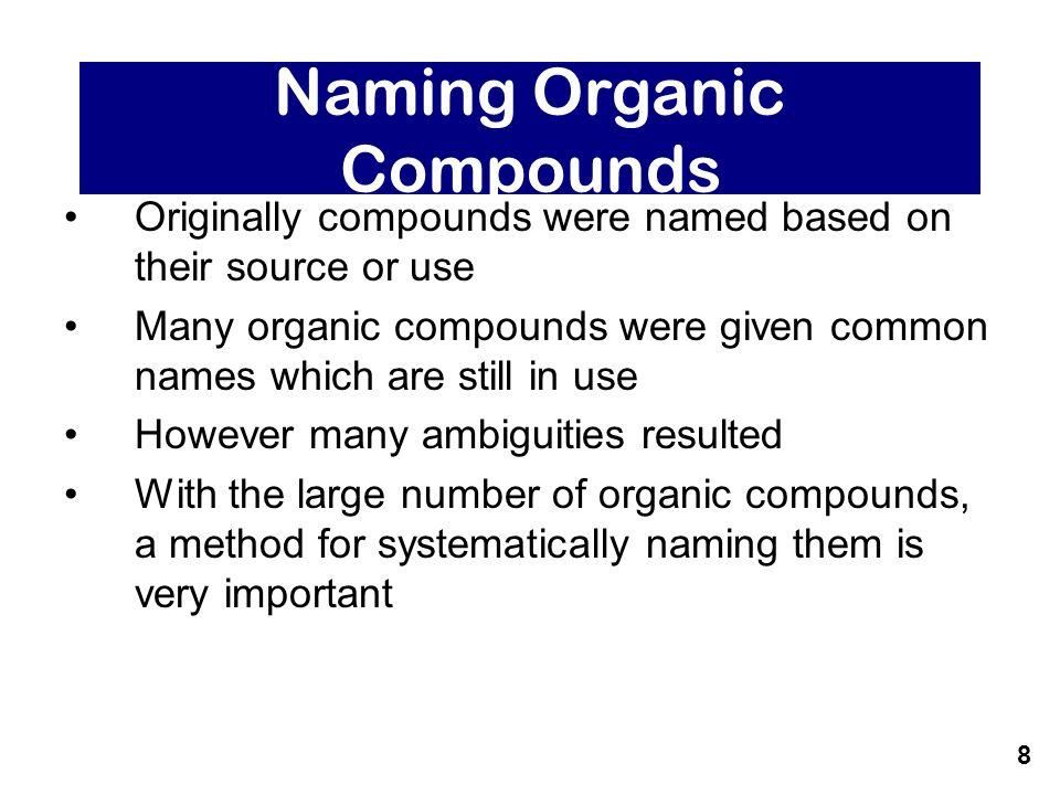 sources of organic compounds pdf