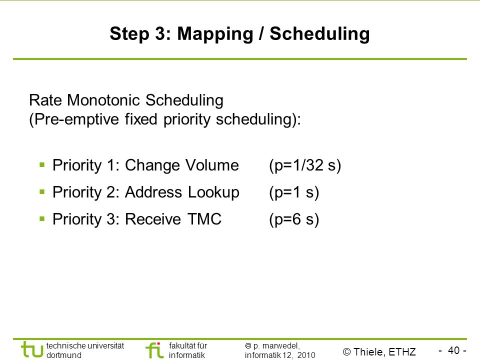 Step 3: Mapping / Scheduling