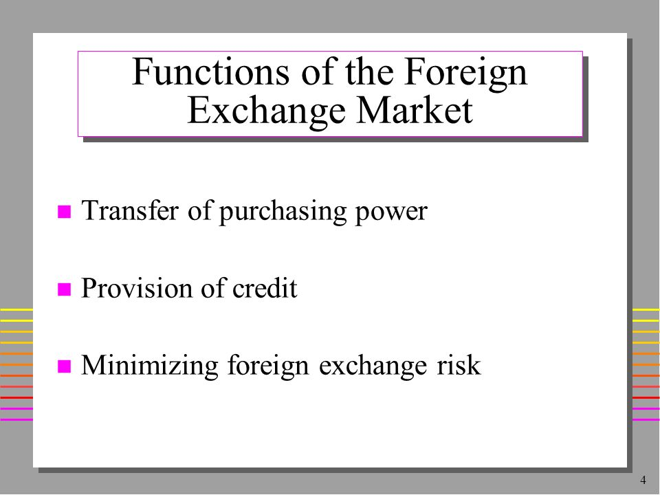 the foreign exchange market How does foreign exchange trading work  for example, if you were trading 2:1, you could use a $1,000 deposit, to control $2,000 of currency on the market many.