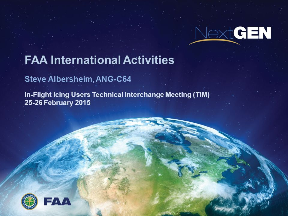 FAA International Activities