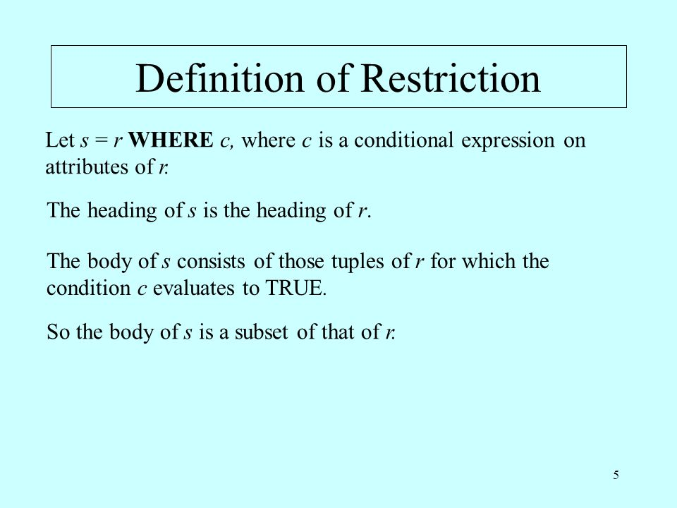 Definition of Restriction