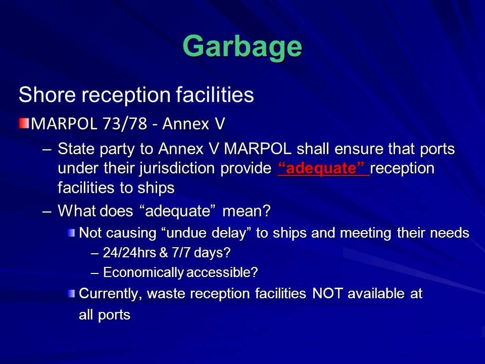 guidelines for ensuring the adequacy of port waste reception facilities