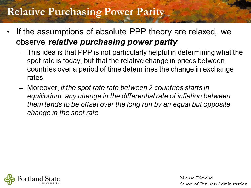 purchasing power parity absolute and relative dating