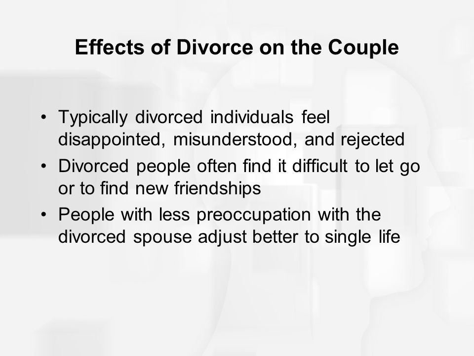 divorce Effects on adult of