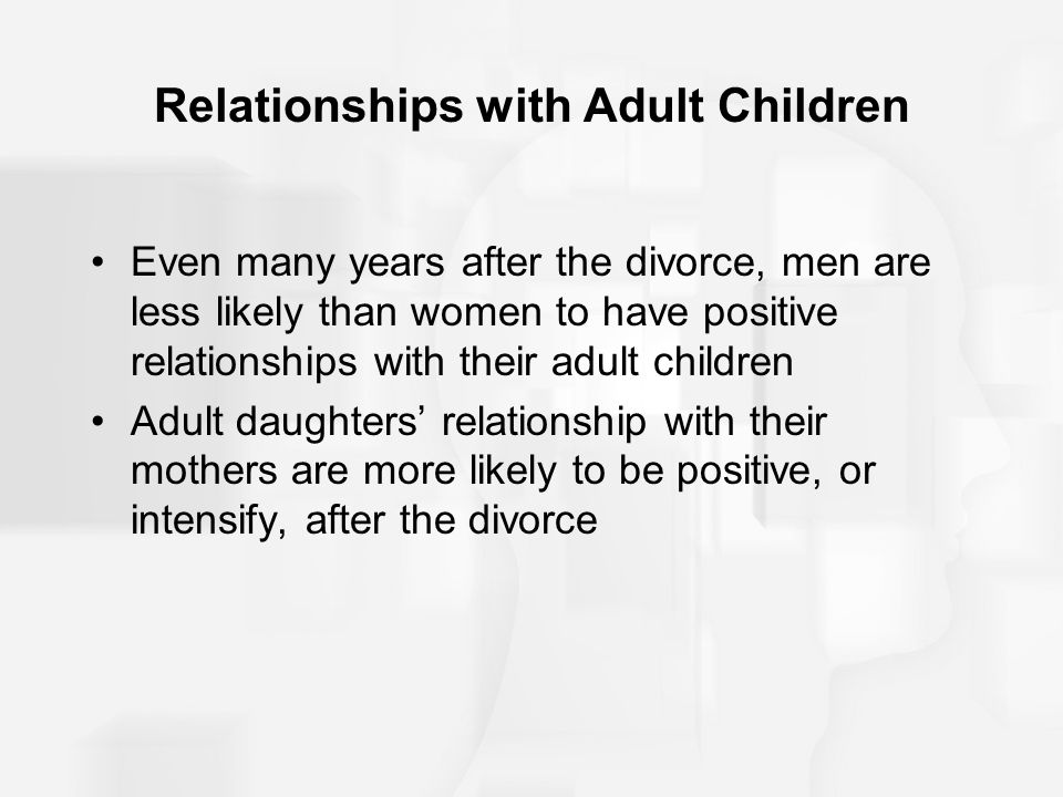 Adult daughters dating and divorce