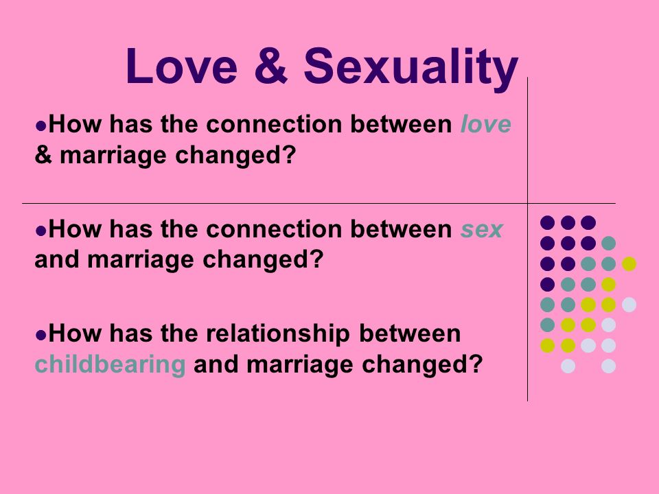 Connection between sex and love