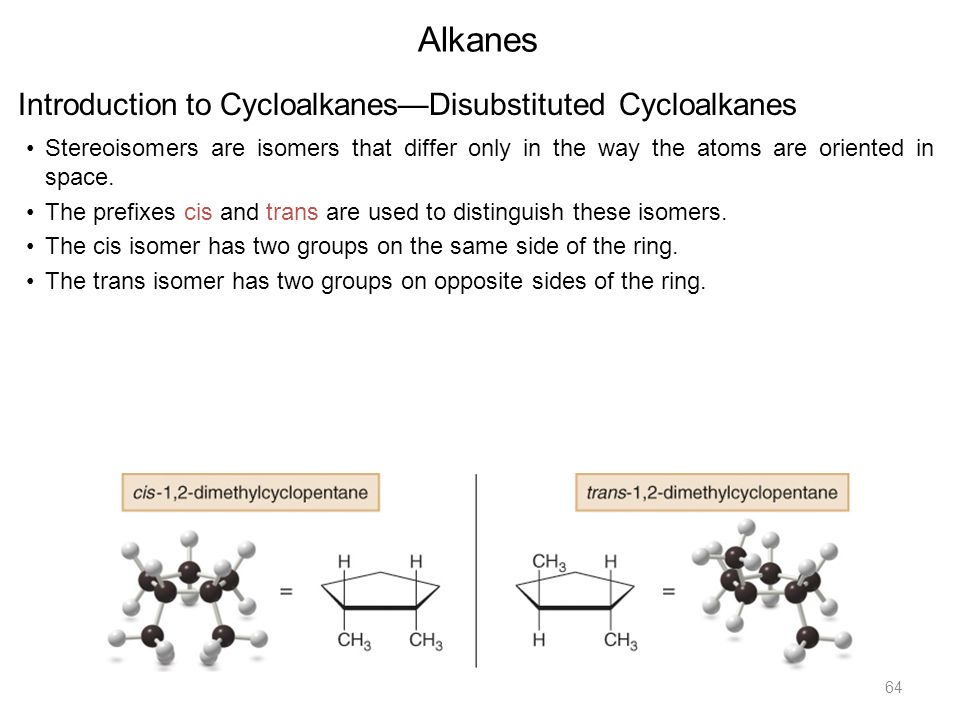 introduction to the alkanes The first four alkanes are methane (ch 4), ethane (c 2 h 6), propane (c 3 h 8) and butane (c 4 h 10) the simplest alkane is the gas methane , whose molecular formula is ch 4  methane exists as a tetrahedral shape, but it is often represented by a flattened structure as are most organic compounds.