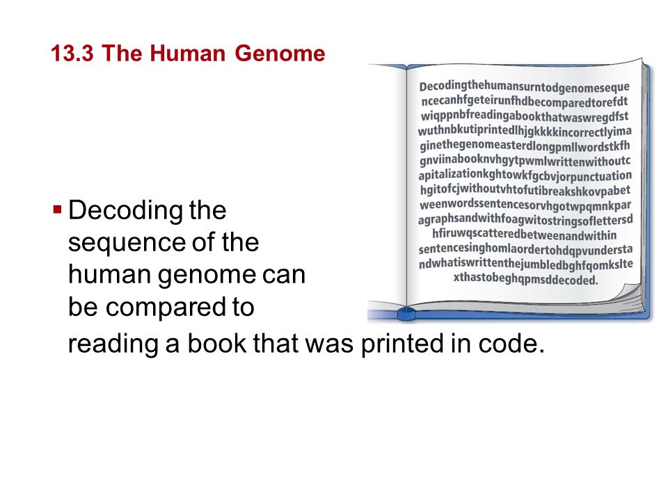 Decoding the sequence of the human genome can be compared to