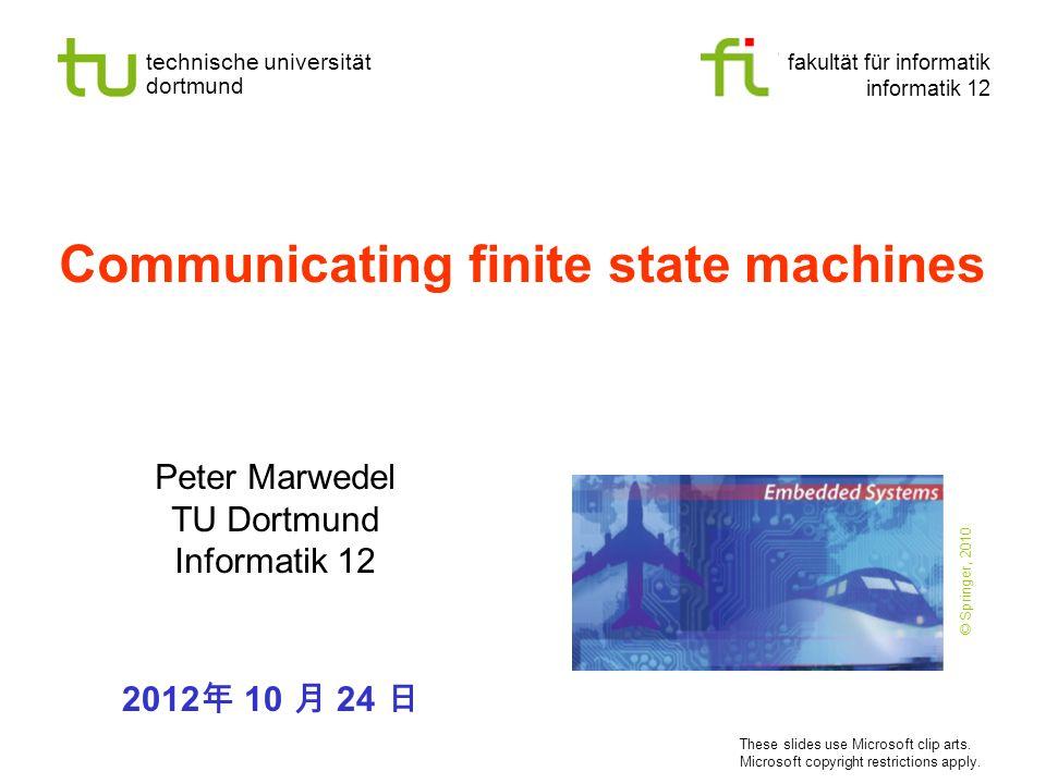 Communicating finite state machines