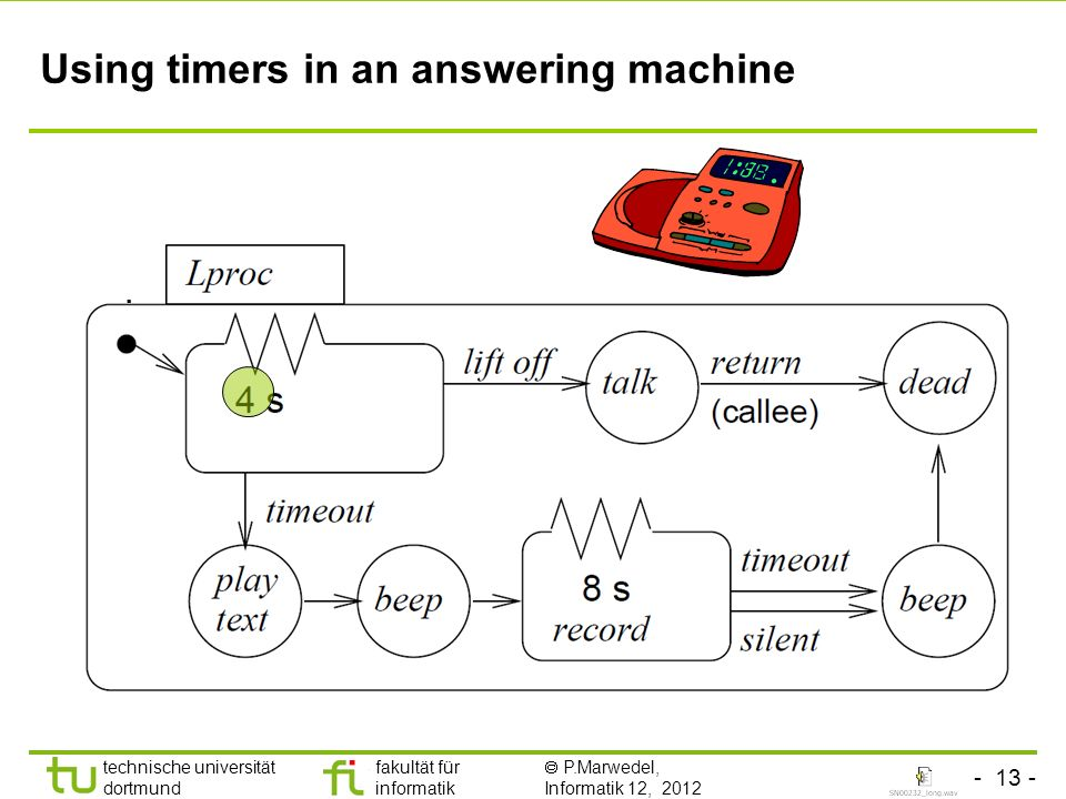Using timers in an answering machine