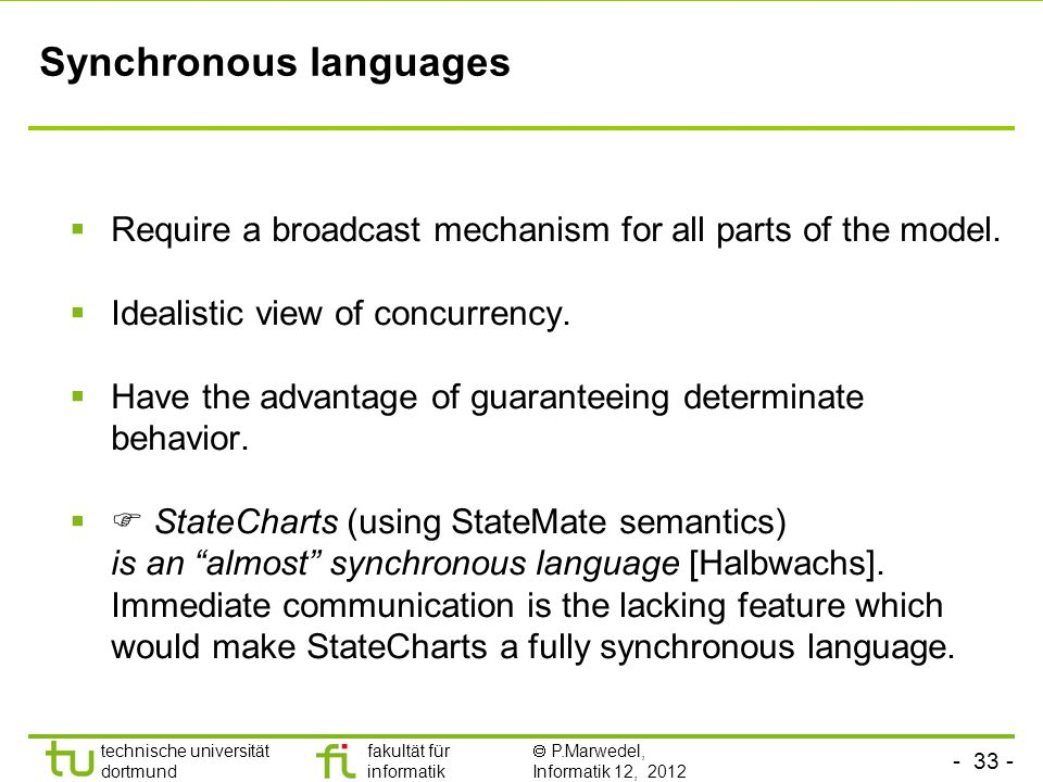 Synchronous languages