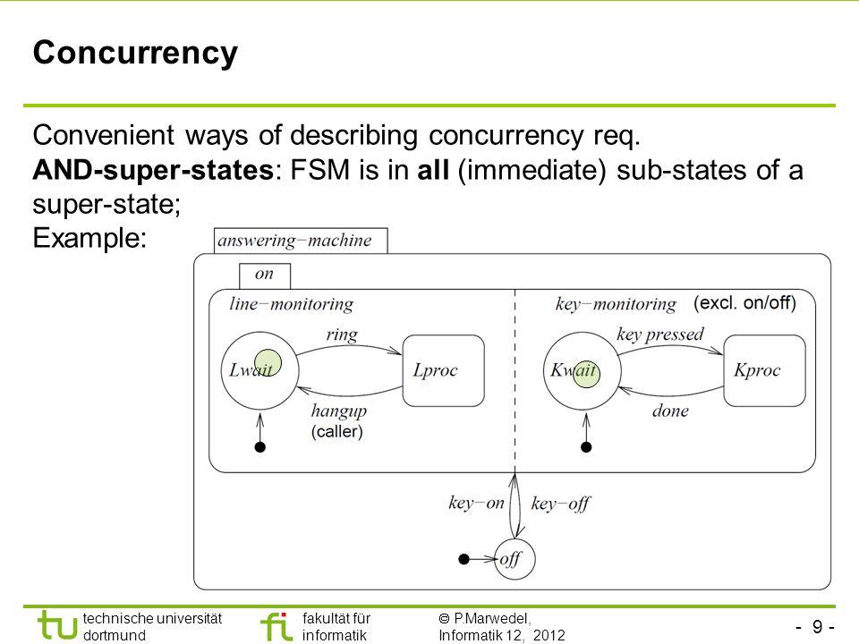 Concurrency Convenient ways of describing concurrency req.