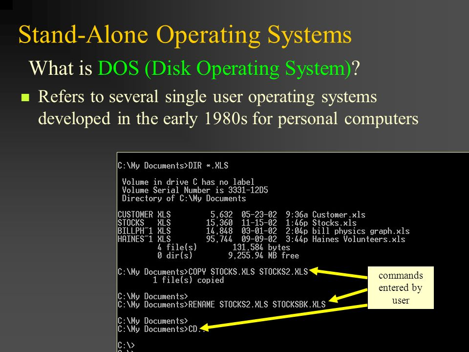 disk operating system and game development