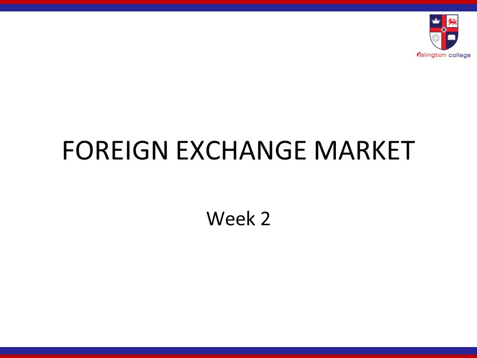 FOREIGN EXCHANGE MARKET DATA, ANALYTICS & TRADING