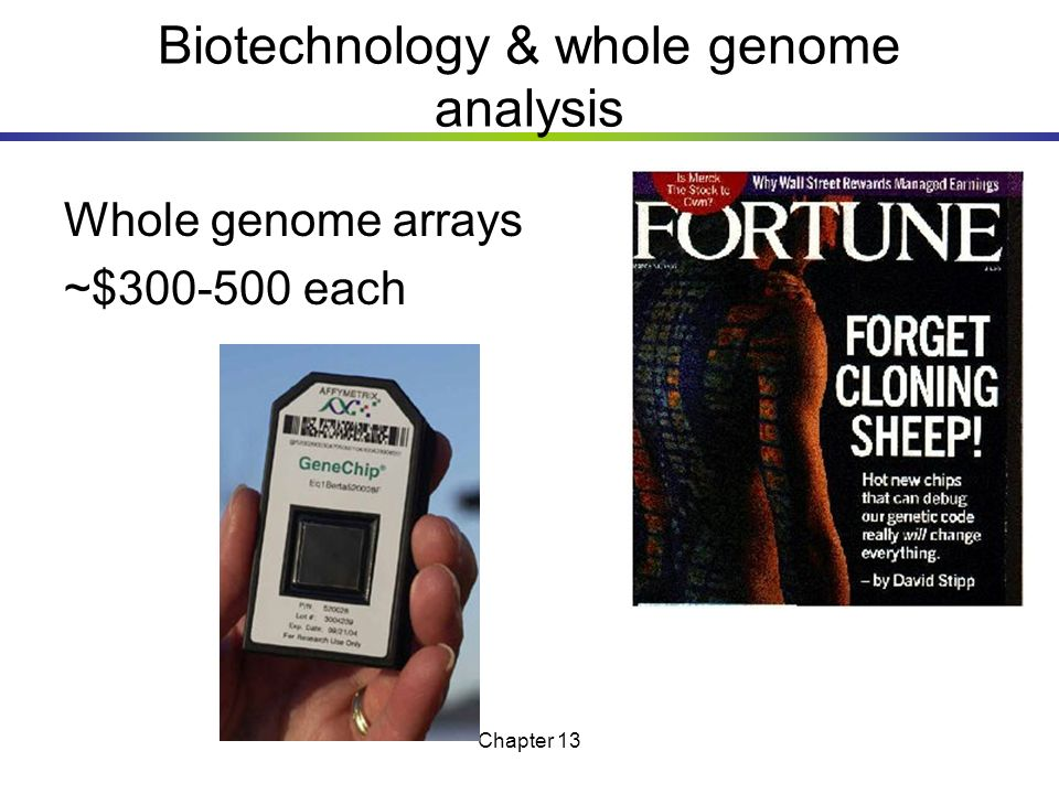 Biotechnology & whole genome analysis
