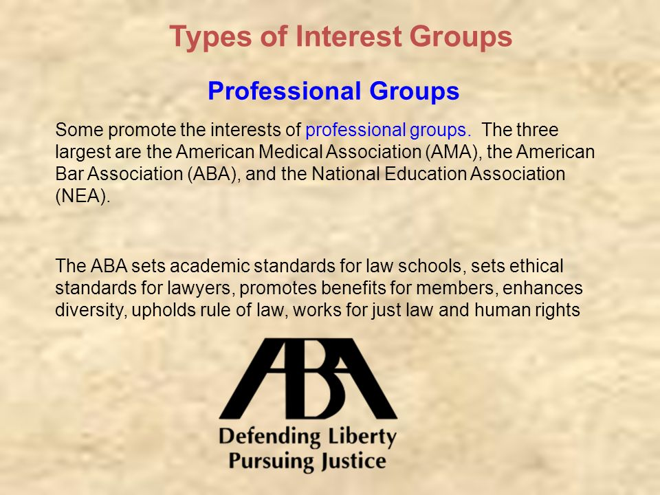 types of interest groups Types of interest groups actually, there are three major types of interest groups animal rights groups such as people for the ethical treatment of animals( peta ) and environmental interest groups such as greenpeace usually organize as public-interest groups .