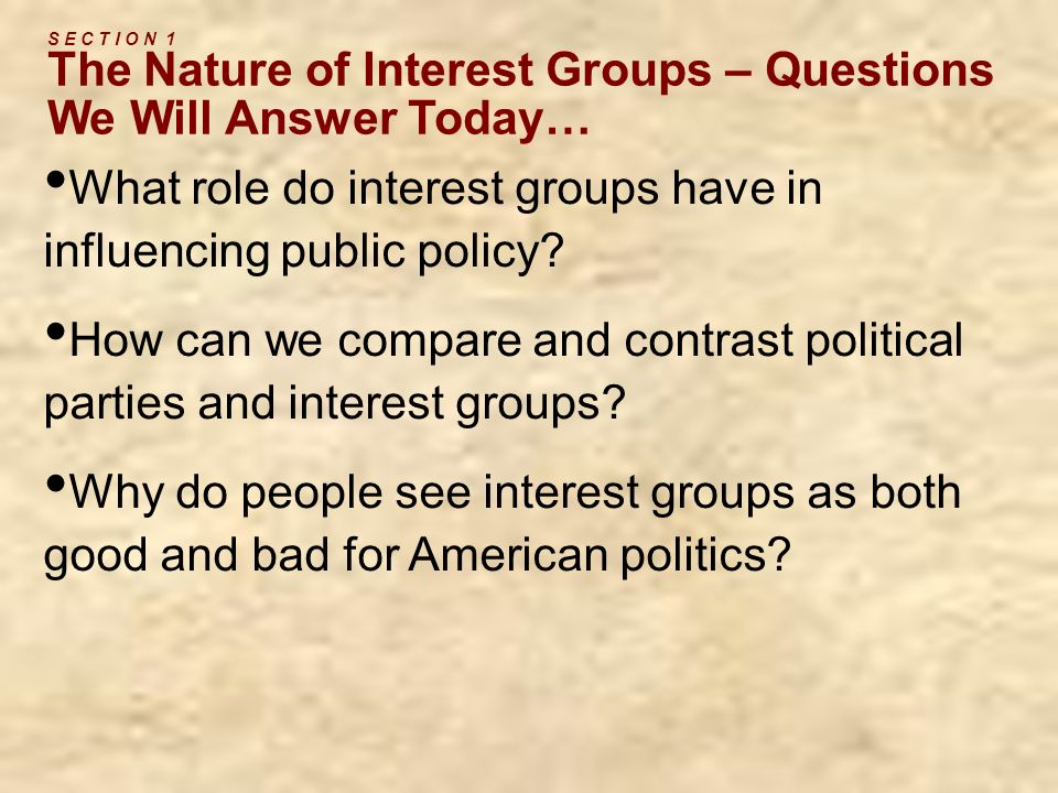 C H A P T E R 9 Interest Groups ppt video online download – Worksheet Comparing American Political Parties