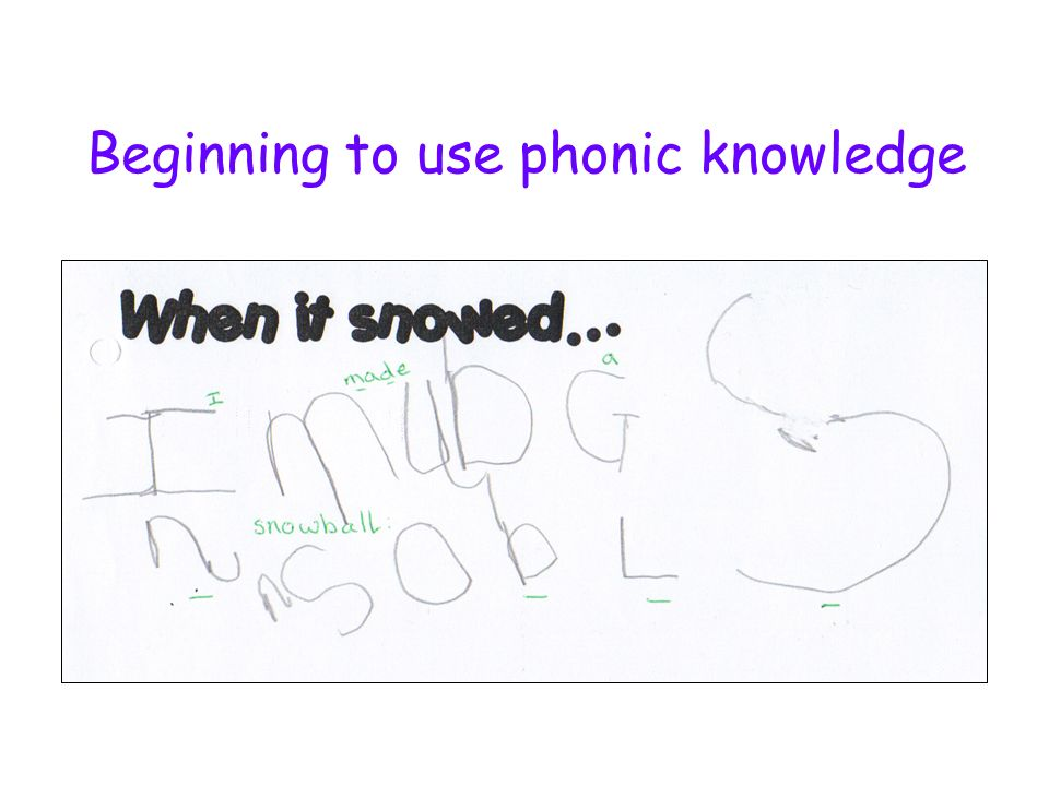 Beginning to use phonic knowledge