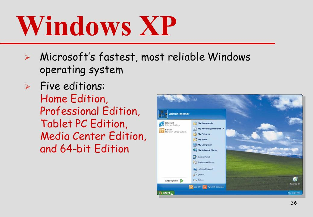 a comparison of the operatic systems of windows xp professional and windows xp home edition From microsoft: windows xp home edition gives you the freedom to experience more than you ever thought possible with your computer and the internet even the preview of microsoft windows 8 does not compare to microsoft windows xp home edition with operating systems: windows xp/home.
