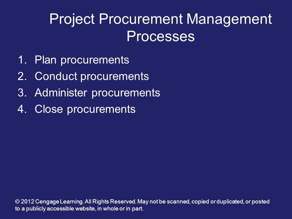 Project Procurement Management Processes
