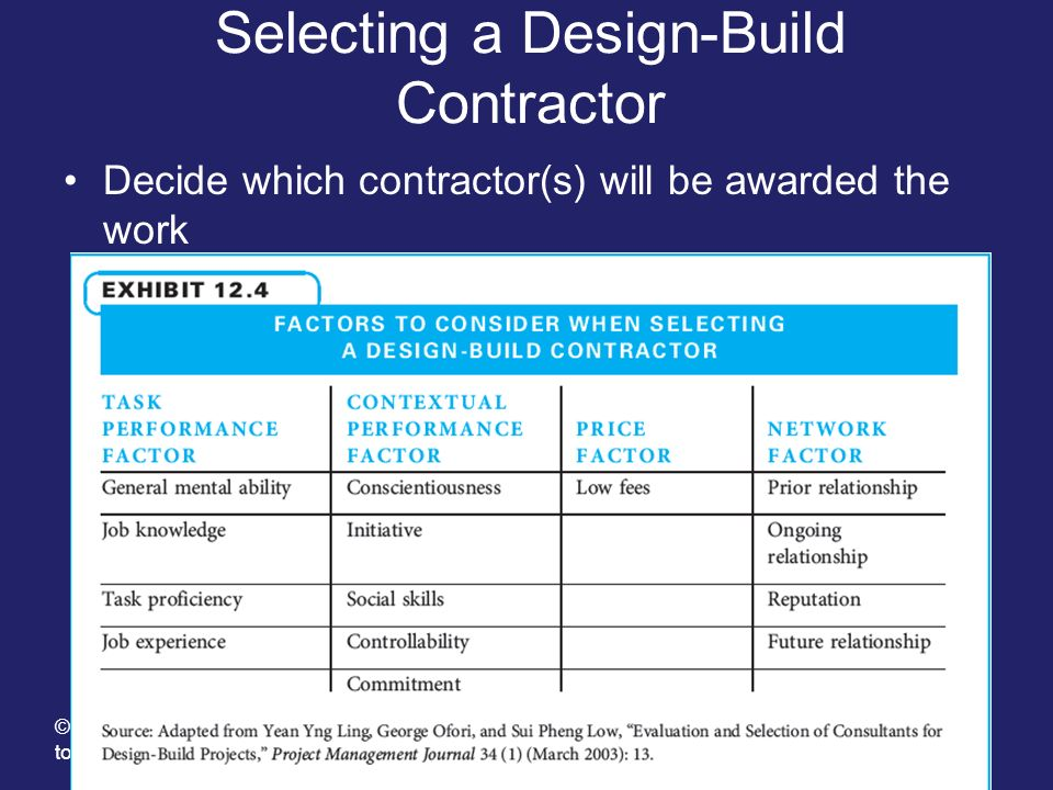 Selecting a Design-Build Contractor