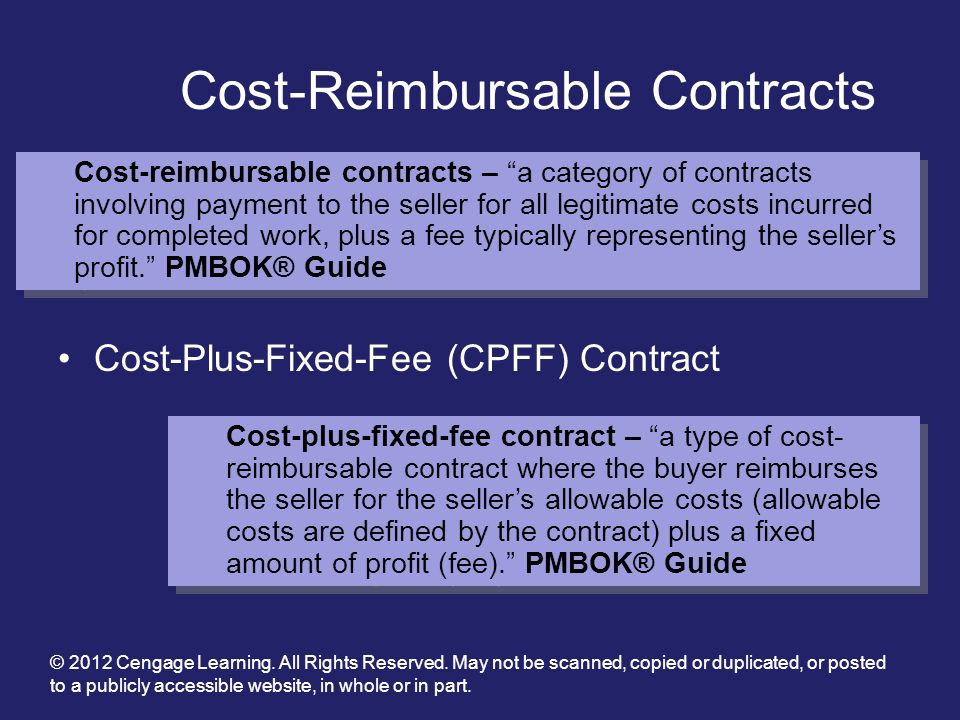 Cost-Reimbursable Contracts