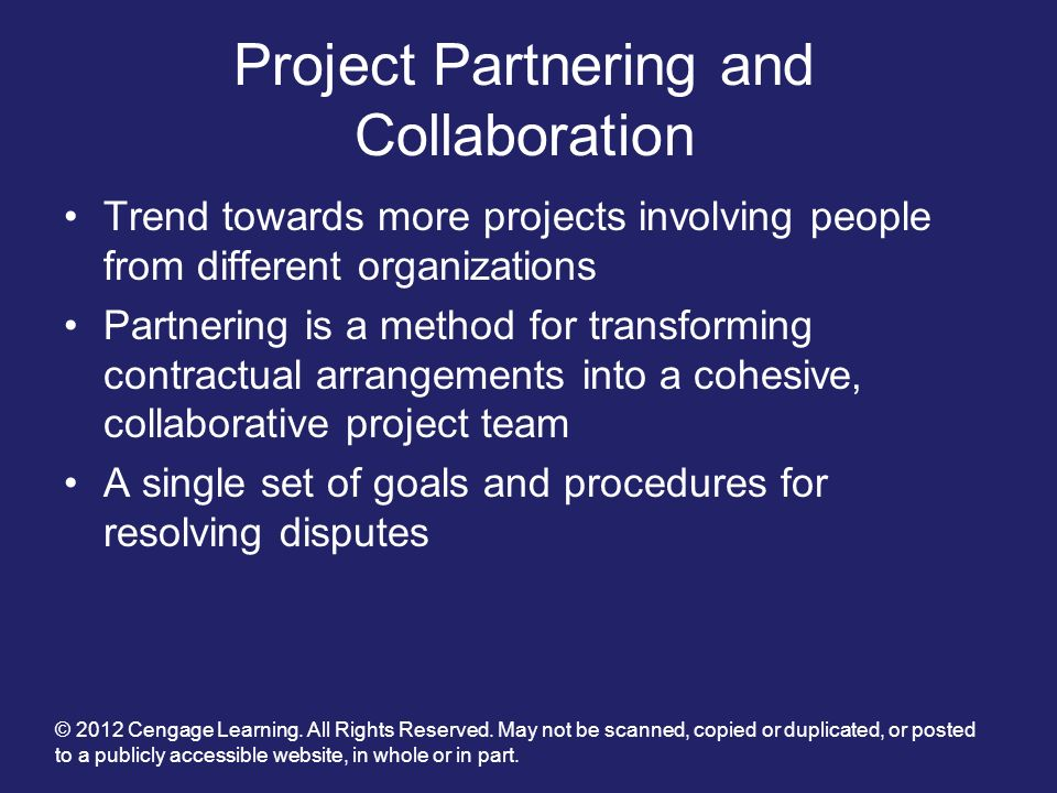 Project Partnering and Collaboration