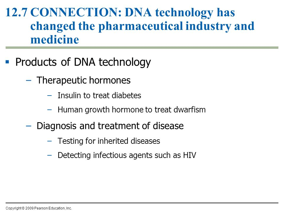 12.7 CONNECTION: DNA technology has changed the pharmaceutical industry and medicine