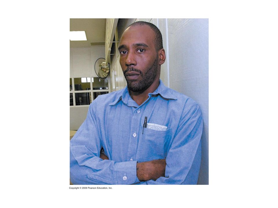Figure 12.15A STR analysis proved that convicted murderer Earl Washington was innocent, freeing him after 17 years in prison.