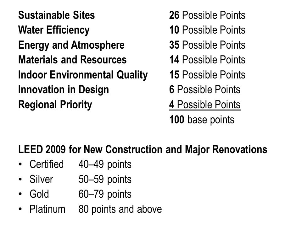 Leed green associate study session 5 ppt download for Indoor environmental quality design