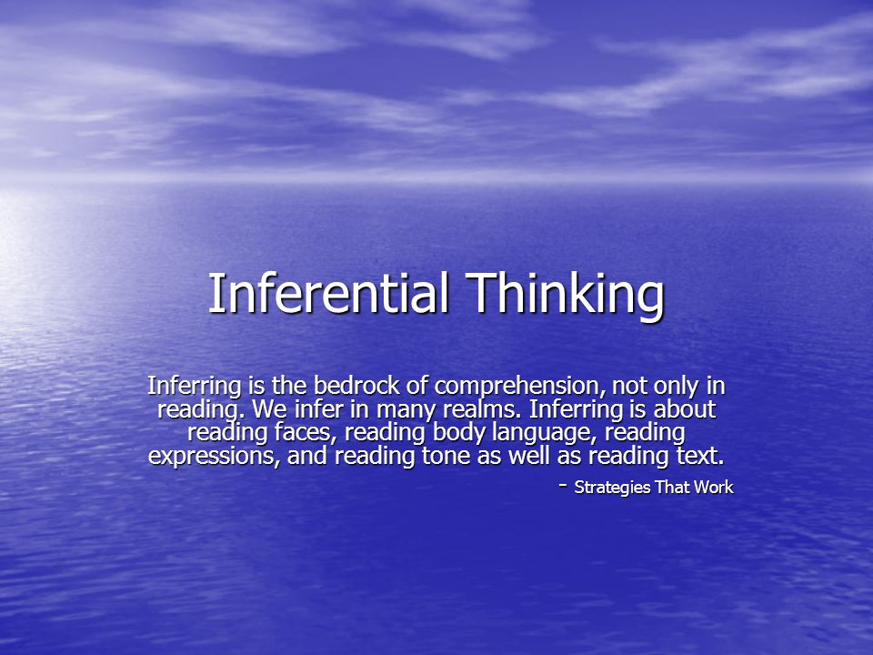 Inferential Thinking