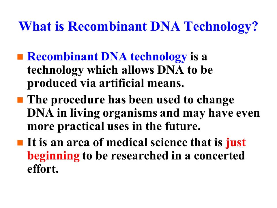 Recombinant DNA Technology ppt download – Recombinant Dna Worksheet