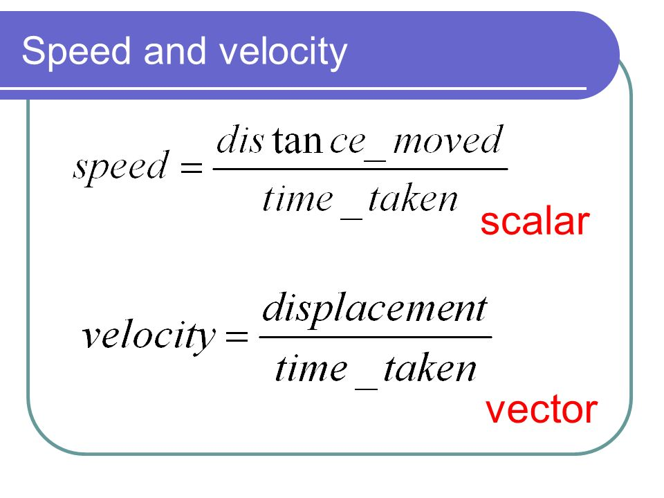 how to find velocity vector given speed and direction