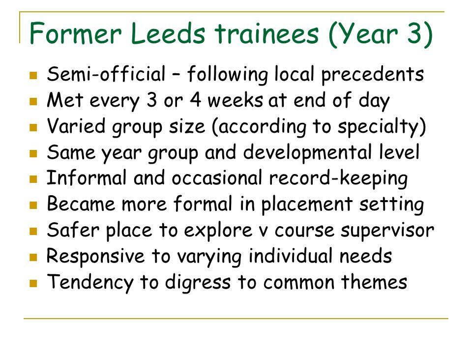 Former Leeds trainees (Year 3)