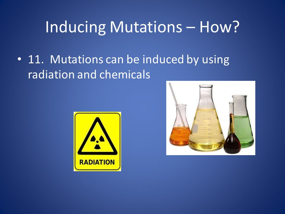 Inducing Mutations – How
