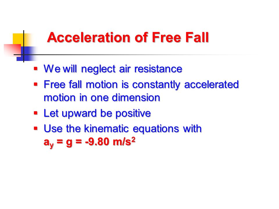 Acceleration of Free Fall