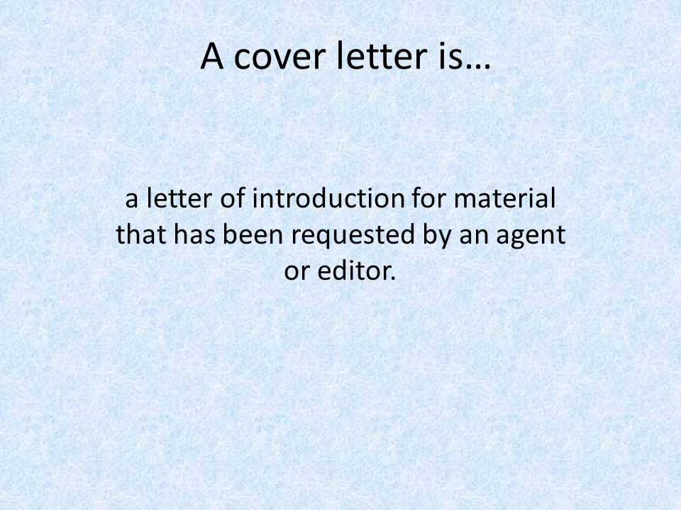 How to write a query letter cover letter and a book proposal
