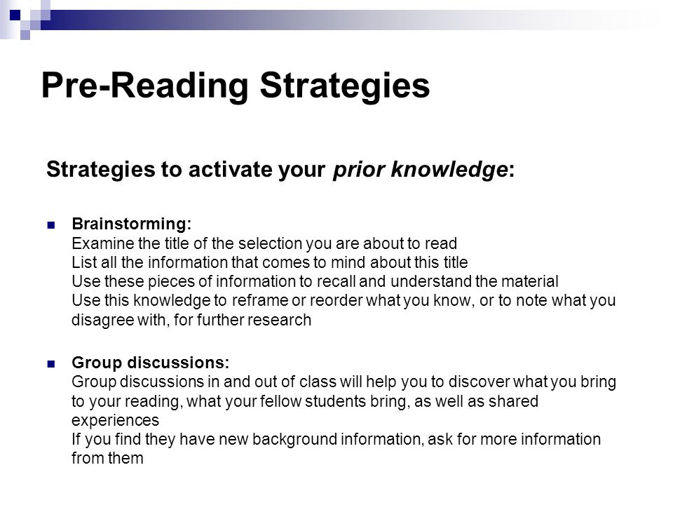 critical thinking and reading strategies Reading effectively requires approaching texts with a critical eye: evaluating what  you read for  information to get you thinking about what you'll need allow.