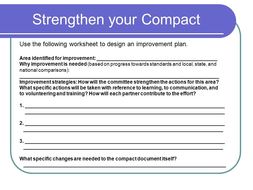 Strengthen your Compact