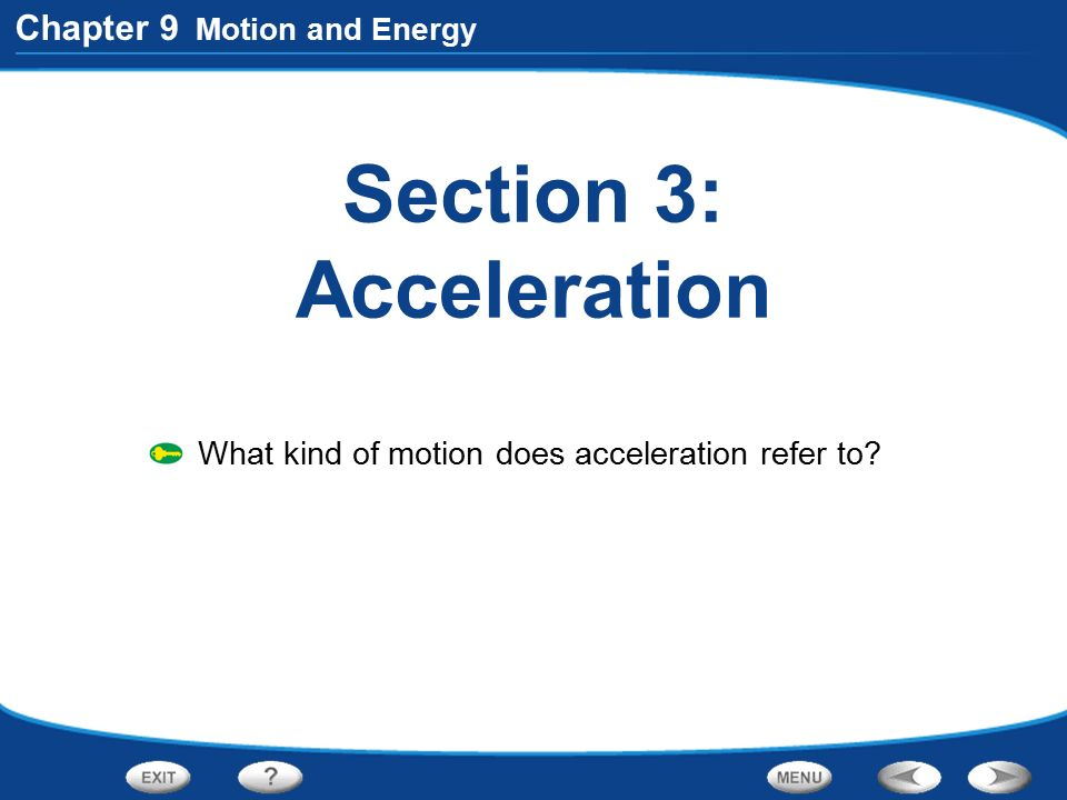 Section 3: Acceleration