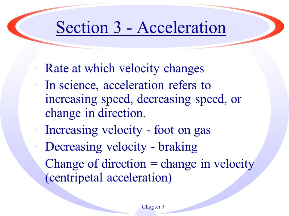 Section 3 - Acceleration